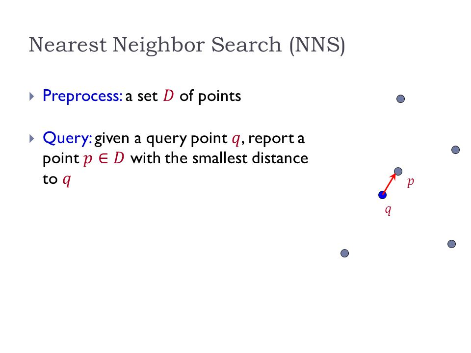 Nearest Neighbor Search (NNS)