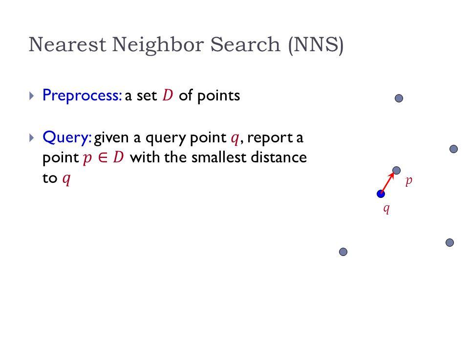 Motivation  Generic setup:  Points model objects (e.g.