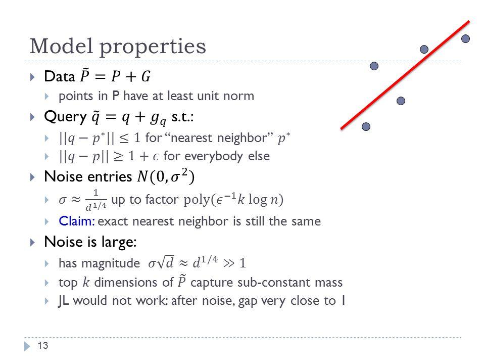 Model properties 13