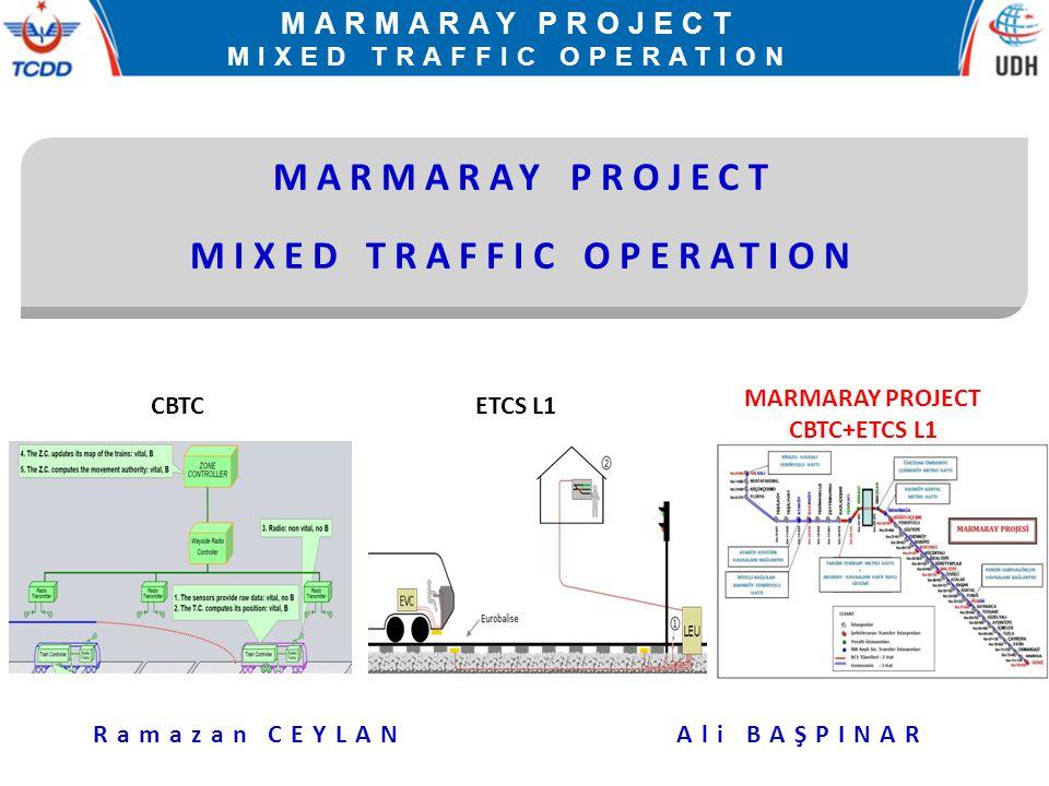 MARMARAY PROJECT MIXED TRAFFIC OPERATION MARMARAY PROJECT MIXED TRAFFIC OPERATION Ramazan CEYLANAli BAŞPINAR CBTCETCS L1 MARMARAY PROJECT CBTC+ETCS L1