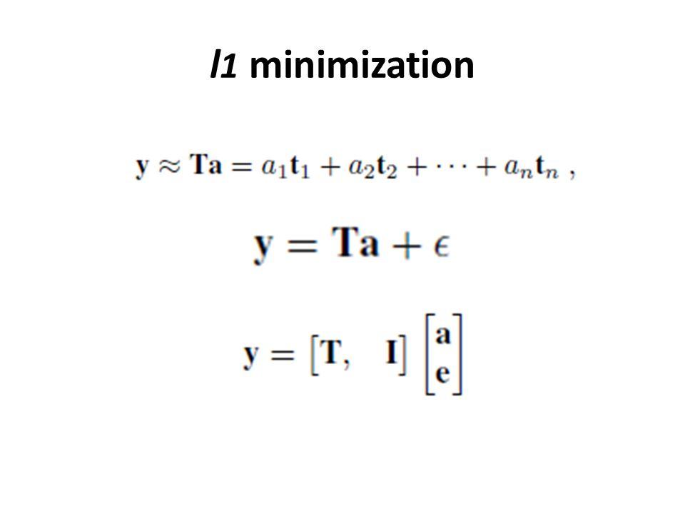 l 1 minimization