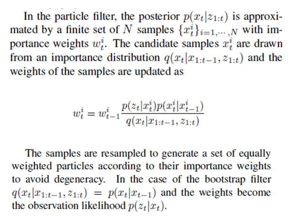 filtering refers to determining the distribution of a latent variable at a specific time, given all observations up to that time; particle filters are so named because they allow for approximate filtering using a set of particles (differently-weighted samples of the distribution).