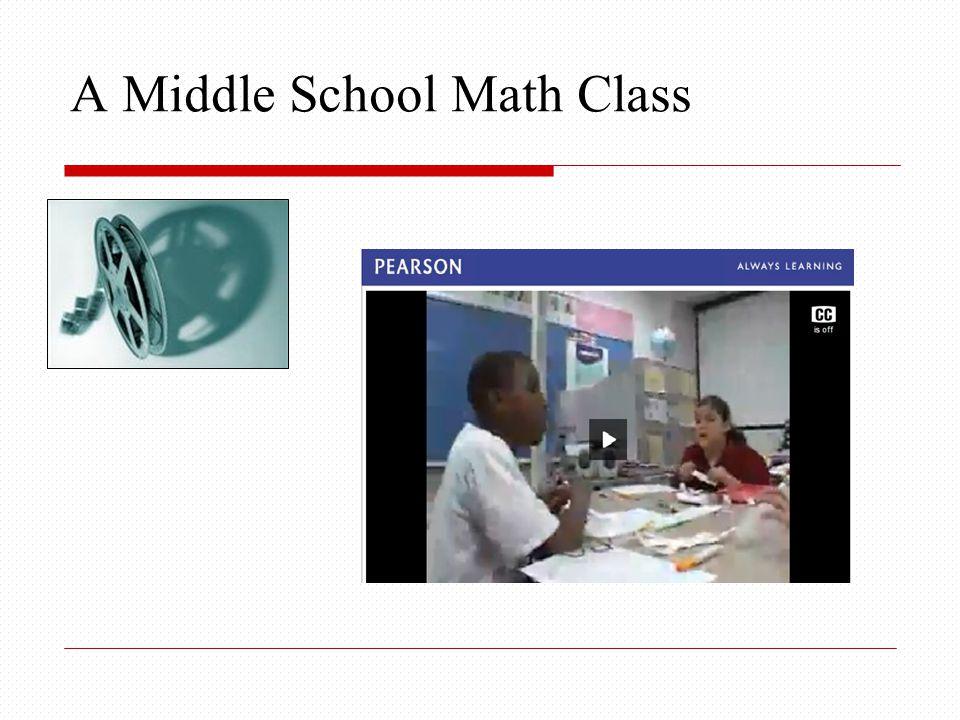 A Middle School Math Class