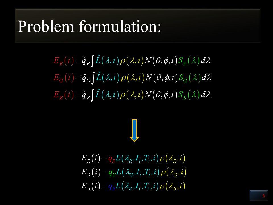 Problem formulation: 6