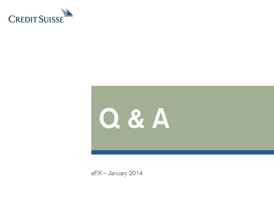 Q & A eFX – January 2014