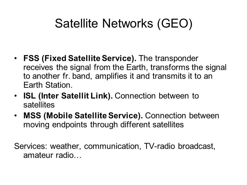 Satellite Networks (GEO) FSS (Fixed Satellite Service).