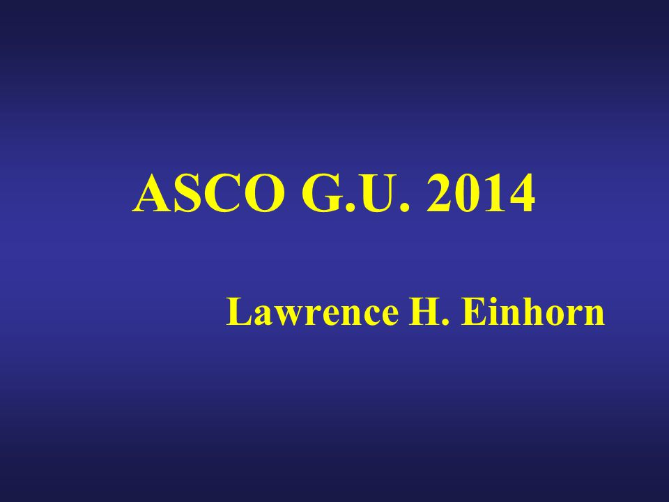 Enzalutamide Reduced Risk of Death by 29% Presented By Andrew Armstrong at 2014 ASCO Annual Meeting