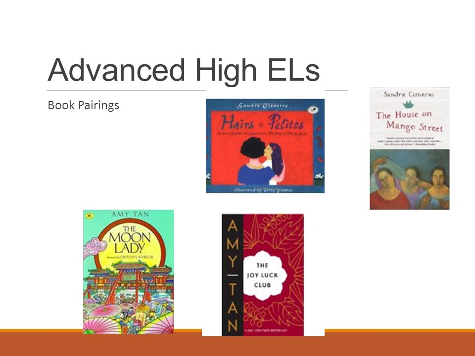 Advanced High ELs Book Pairings