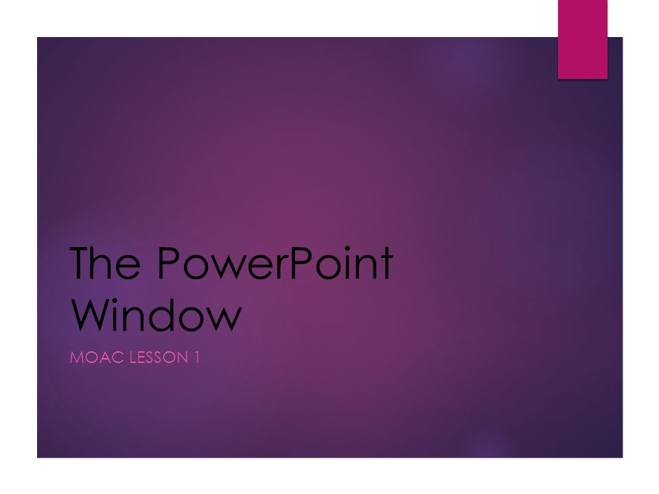 PowerPoint  Software program used to create a collection of slides that may contain text, charts, pictures, sound, movies, or multimedia  Collection of files created in PowerPoint are called Presentations