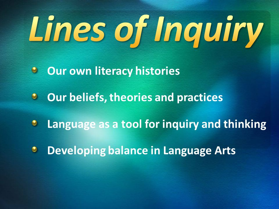 Enduring Understandings V There are authentic opportunities for the development of Reading and Writing through the units of inquiry