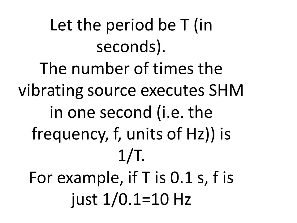 Let the period be T (in seconds).
