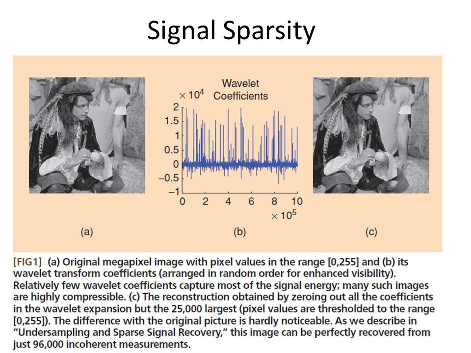 Signal Sparsity