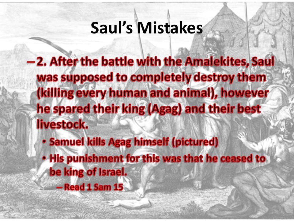 Saul's Mistakes