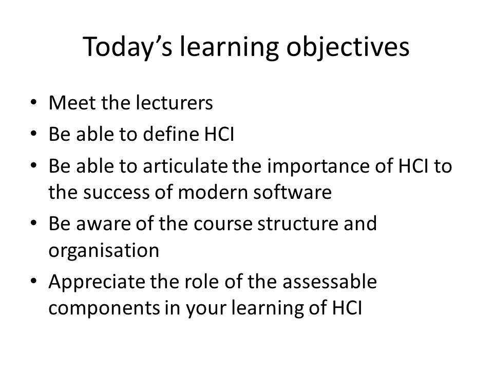 Applications of HCI SecondLife 14
