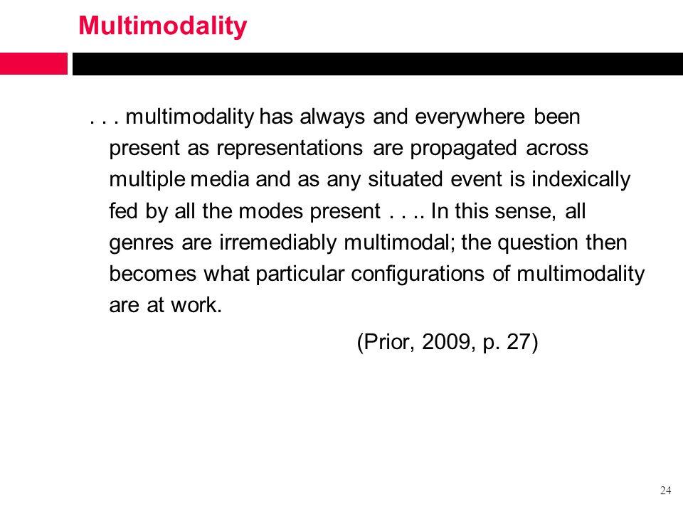 Multimodality...