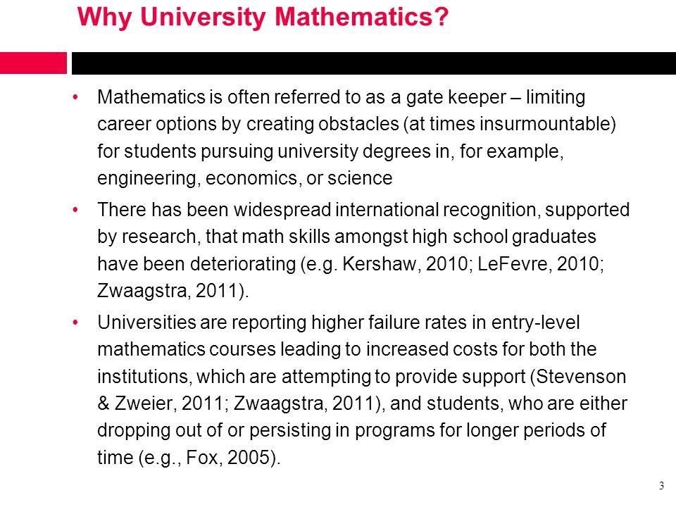 Why University Mathematics.