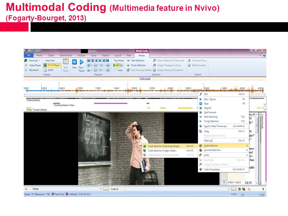 Multimodal Coding (Multimedia feature in Nvivo) (Fogarty-Bourget, 2013)