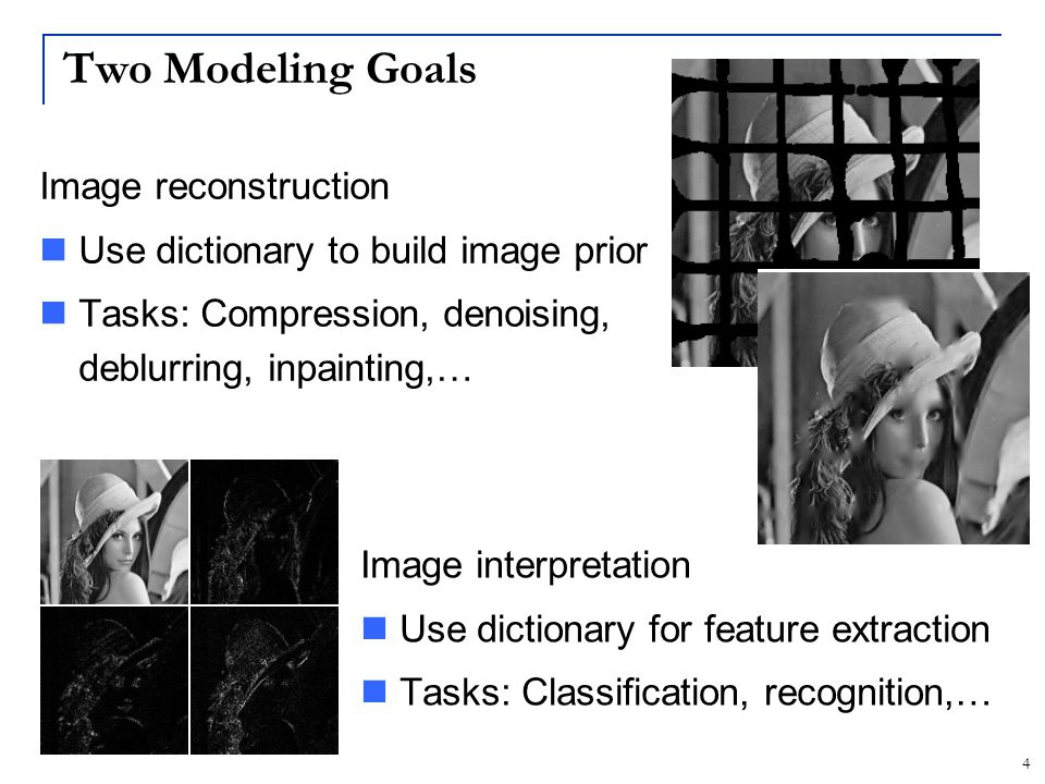5 Three Modeling Regimes Two inter-related properties: How big is the dictionary.