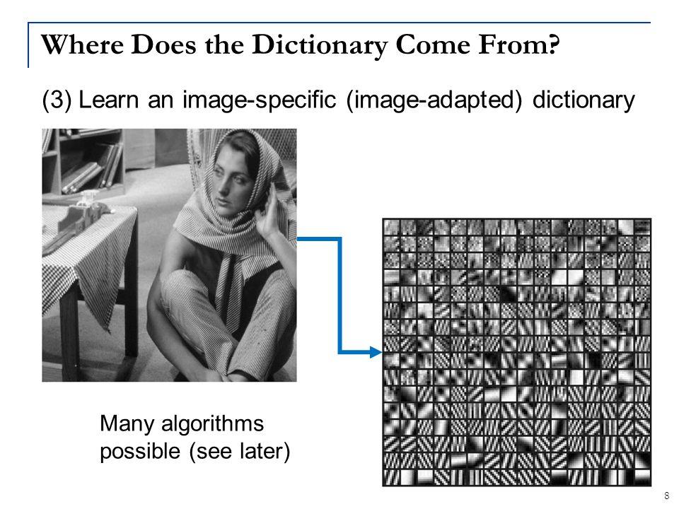 39 The Epitome Data Structure Epitomes: Jojic, Frey, Kannan, ICCV-03 PatchEpitome