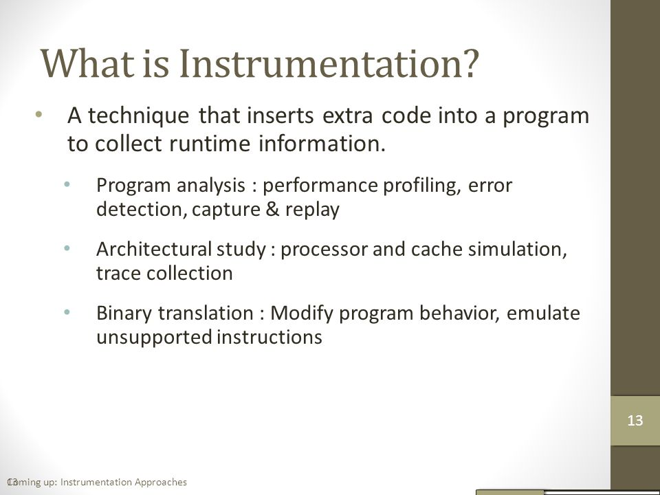 What is Instrumentation.