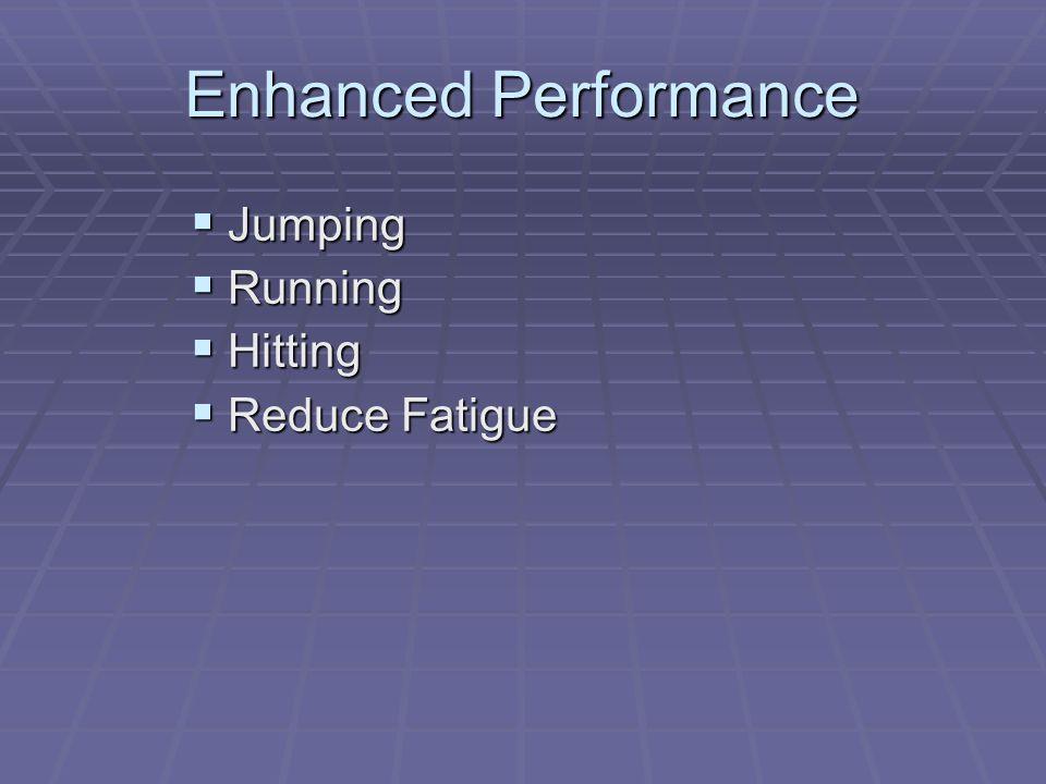 Enhanced Performance  Jumping  Running  Hitting  Reduce Fatigue