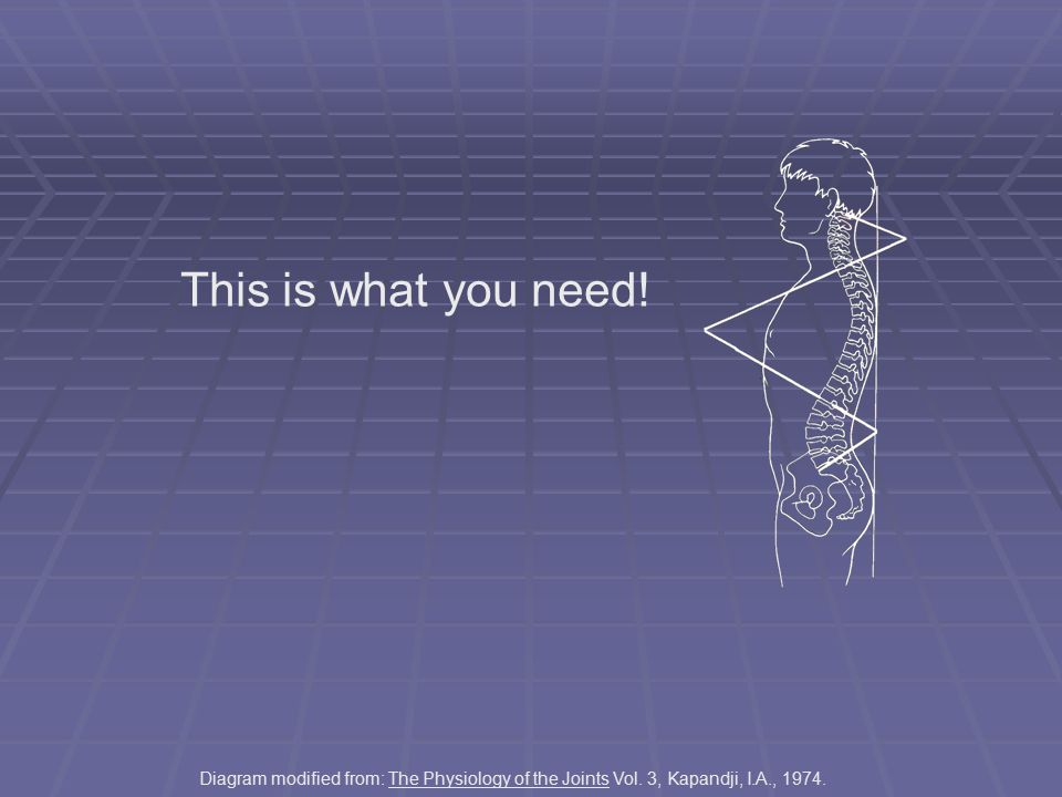 This is what you need.Diagram modified from: The Physiology of the Joints Vol.