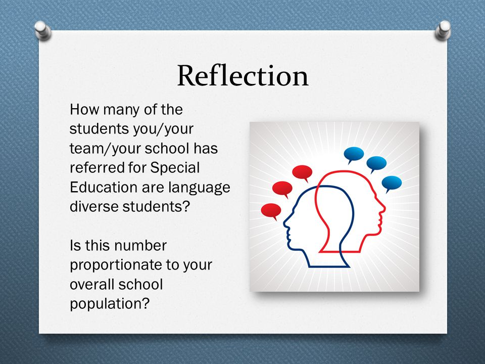 How many of the students you/your team/your school has referred for Special Education are language diverse students? Is this number proportionate to y