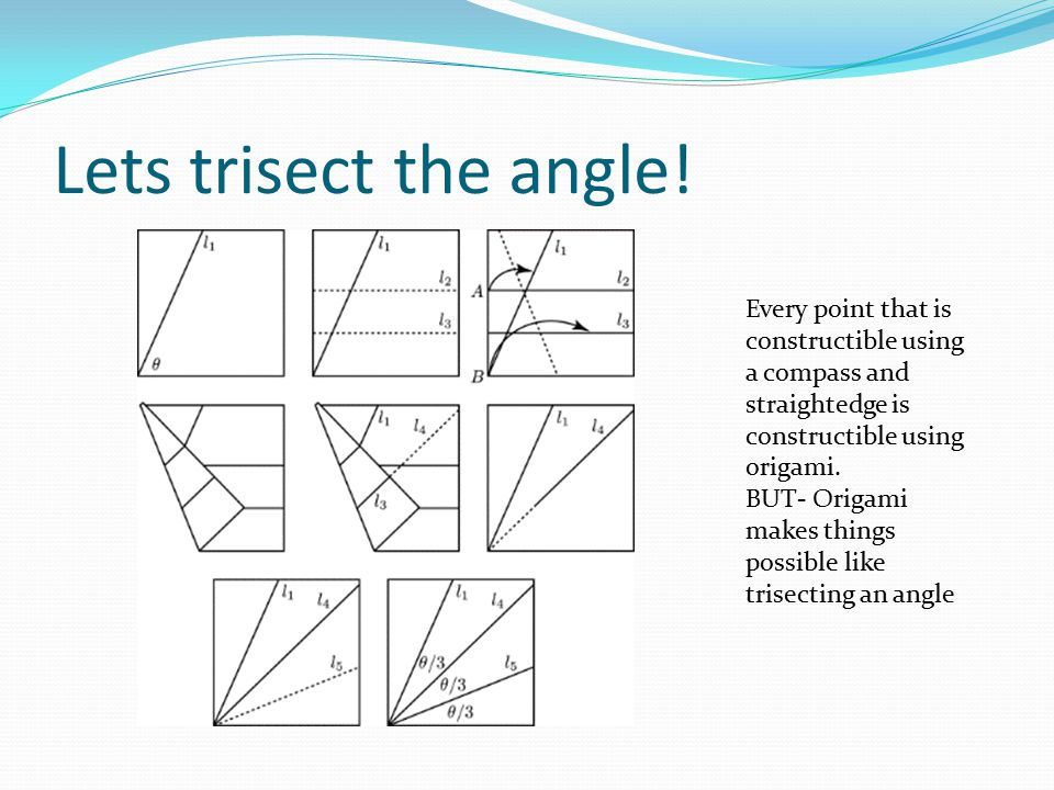 Lets trisect the angle.