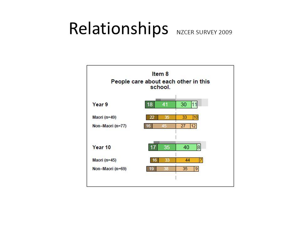 Relationships NZCER SURVEY 2009