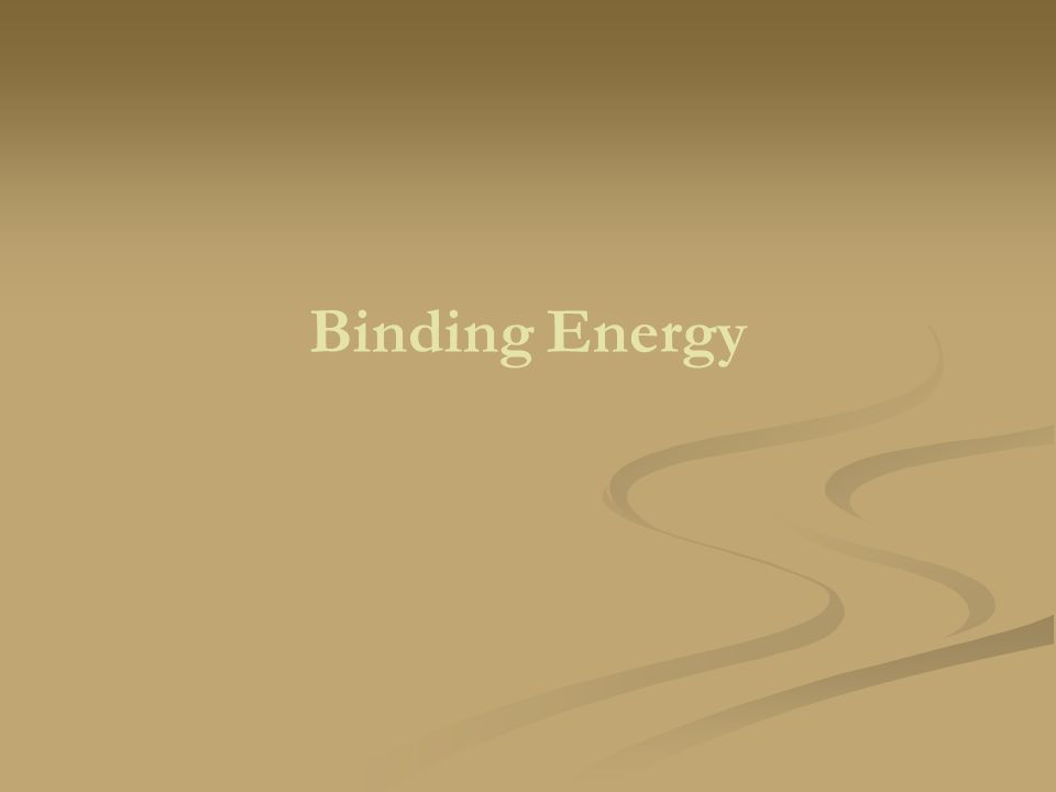 Learning Objectives To define binding energy.To define binding energy.