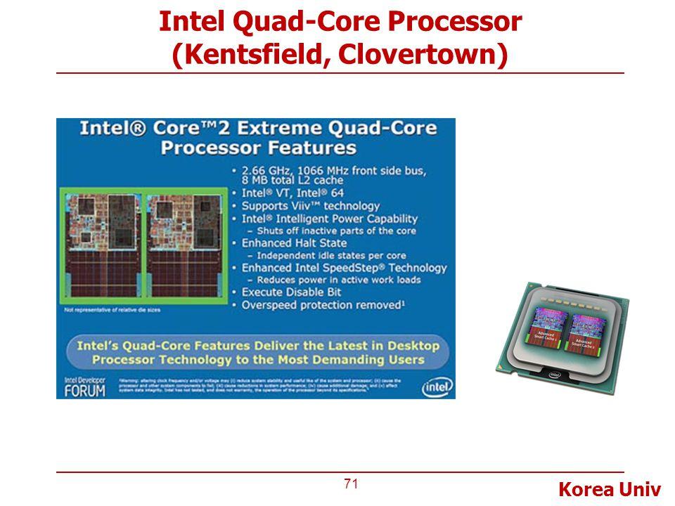 Korea Univ Intel Quad-Core Processor (Kentsfield, Clovertown) 71