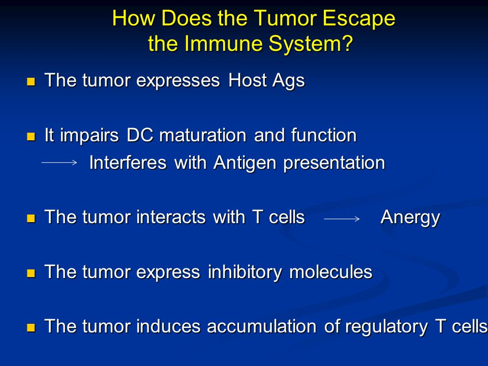 How Does the Tumor Escape the Immune System.How Does the Tumor Escape the Immune System.