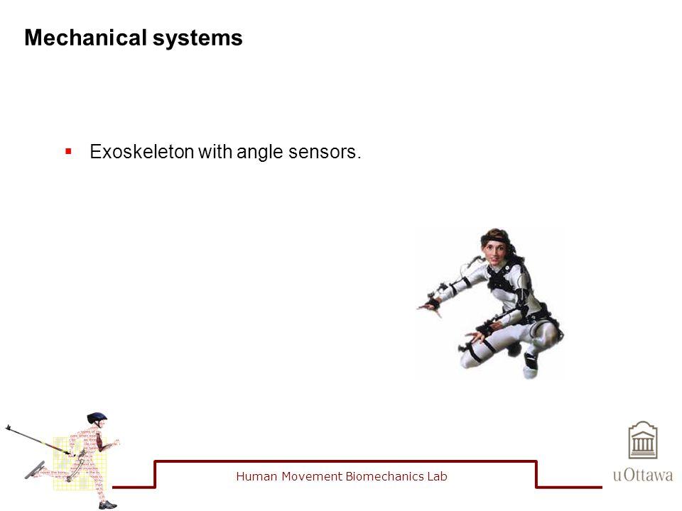 Mechanical systems  Exoskeleton with angle sensors. Human Movement Biomechanics Lab