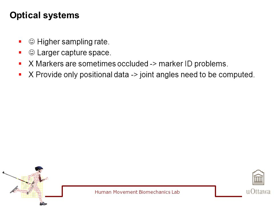 Optical systems  Higher sampling rate.  Larger capture space.