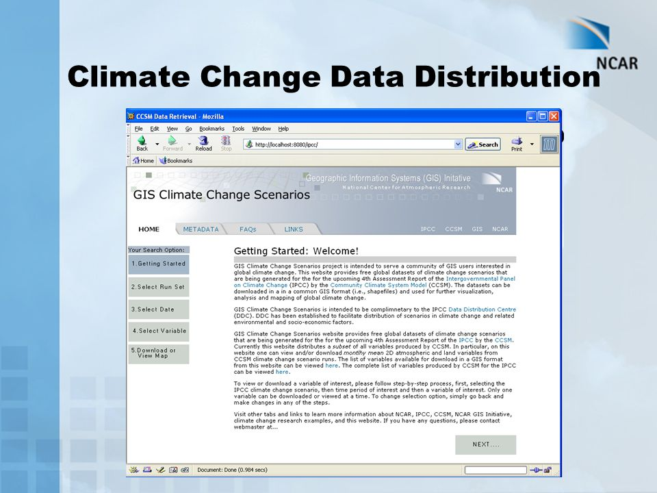 Climate Change Data Distribution