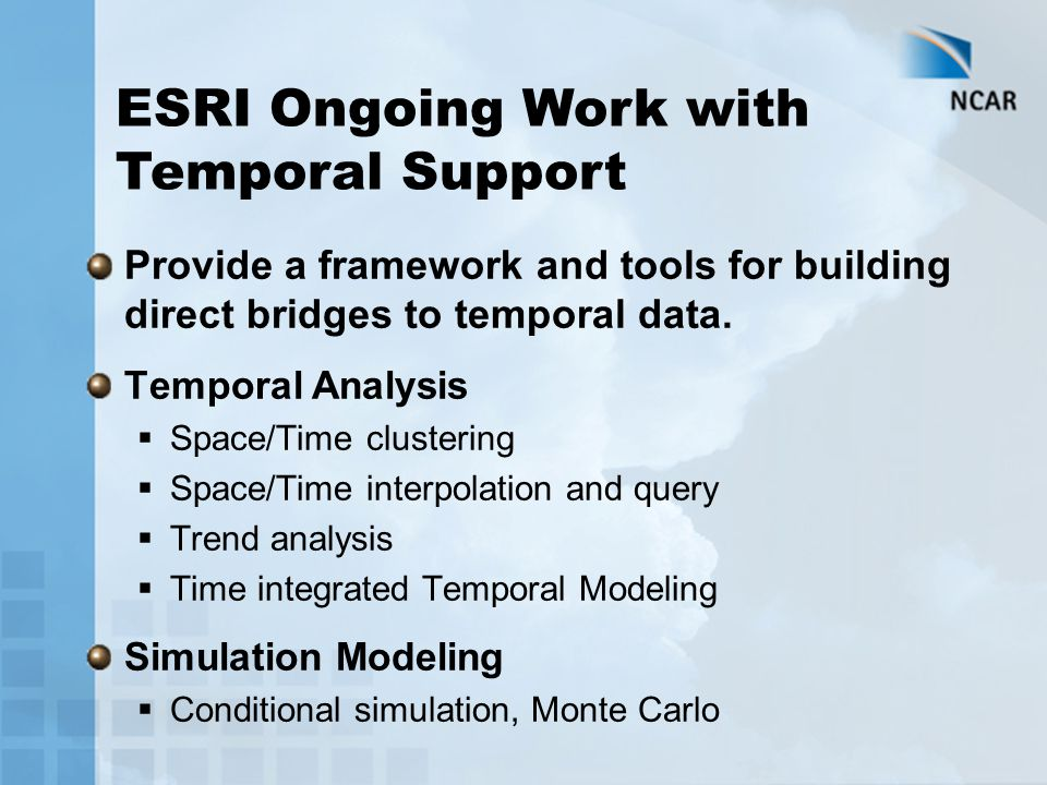 Provide a framework and tools for building direct bridges to temporal data.