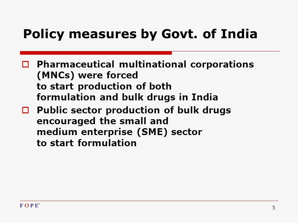 5 Policy measures by Govt.