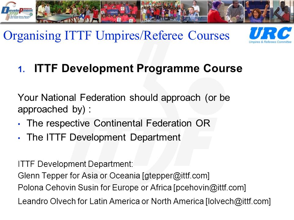 Organising ITTF Umpires/Referee Courses 2.
