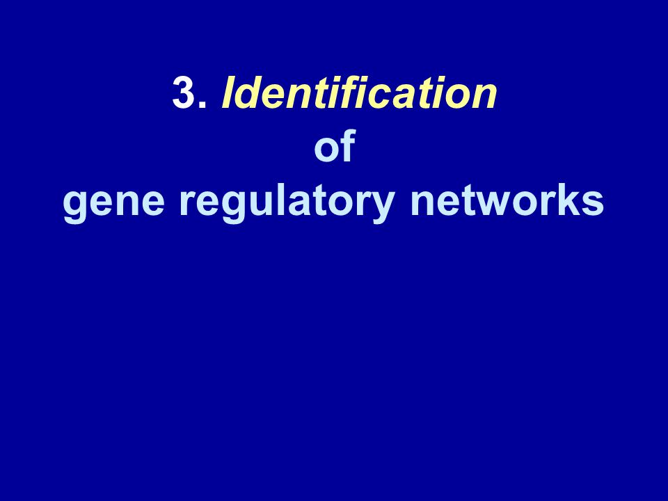 3. Identification of gene regulatory networks