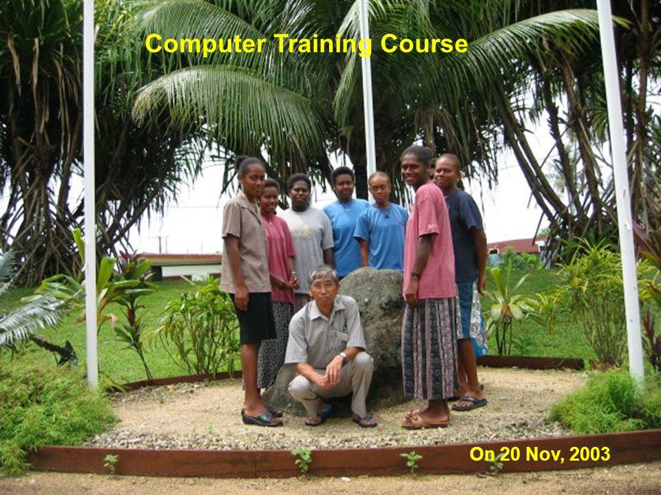 Computer Training Course On 20 Nov, 2003