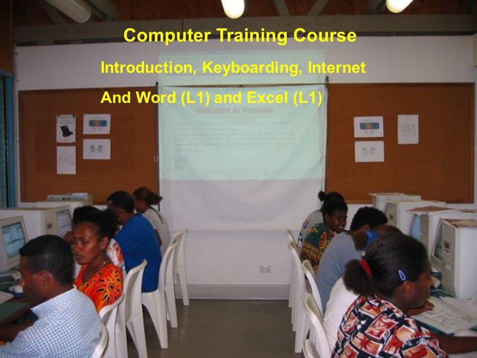 Computer Training Course Internet practice