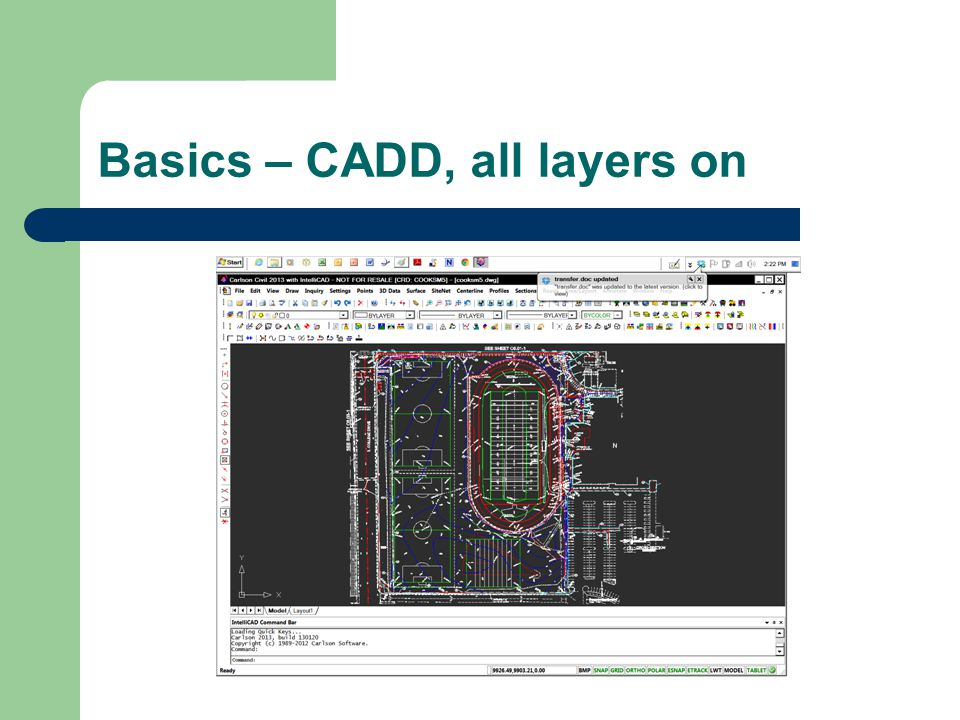 Basics – CADD, all layers on