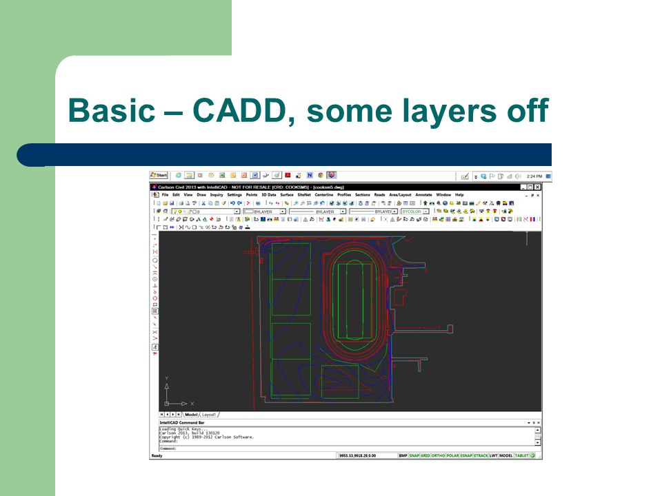 Basic – CADD, some layers off