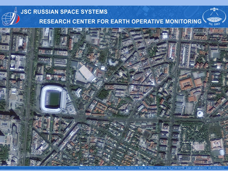 Hyperspectral sensor Span width, km30 GSD, m25-30 Spectral bands, µm 0.4-1.1 Number of bandsmore than 96 Spectral resolution, nm5-10