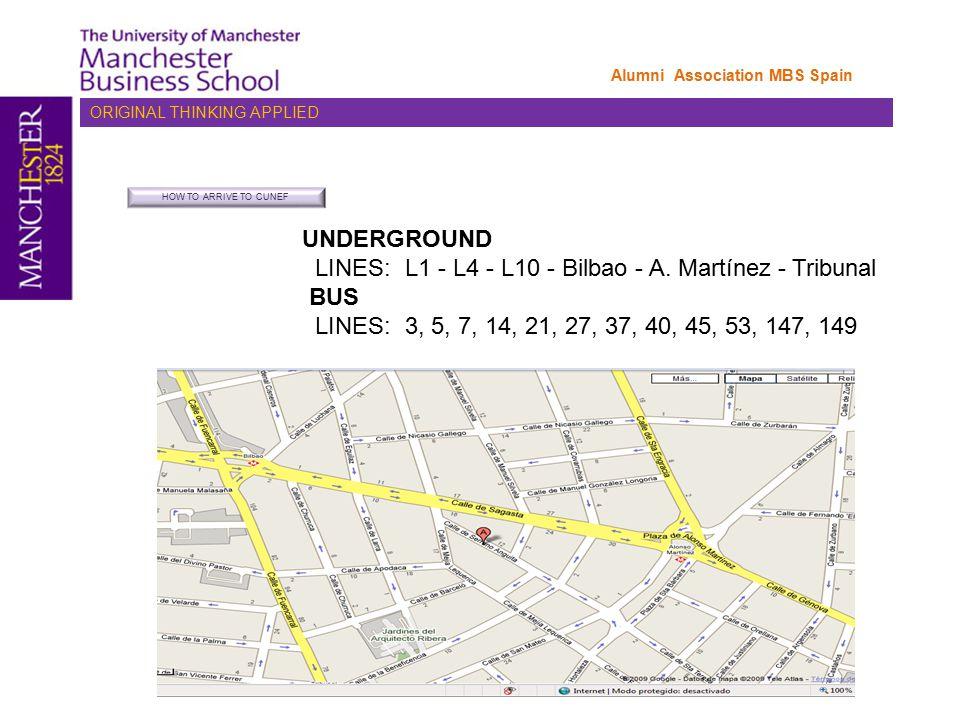 UNDERGROUND LINES: L1 - L4 - L10 - Bilbao - A.
