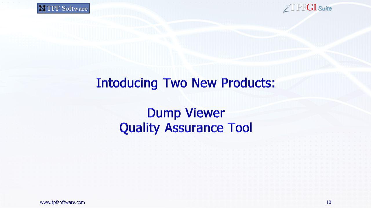 www.tpfsoftware.com Suite 10