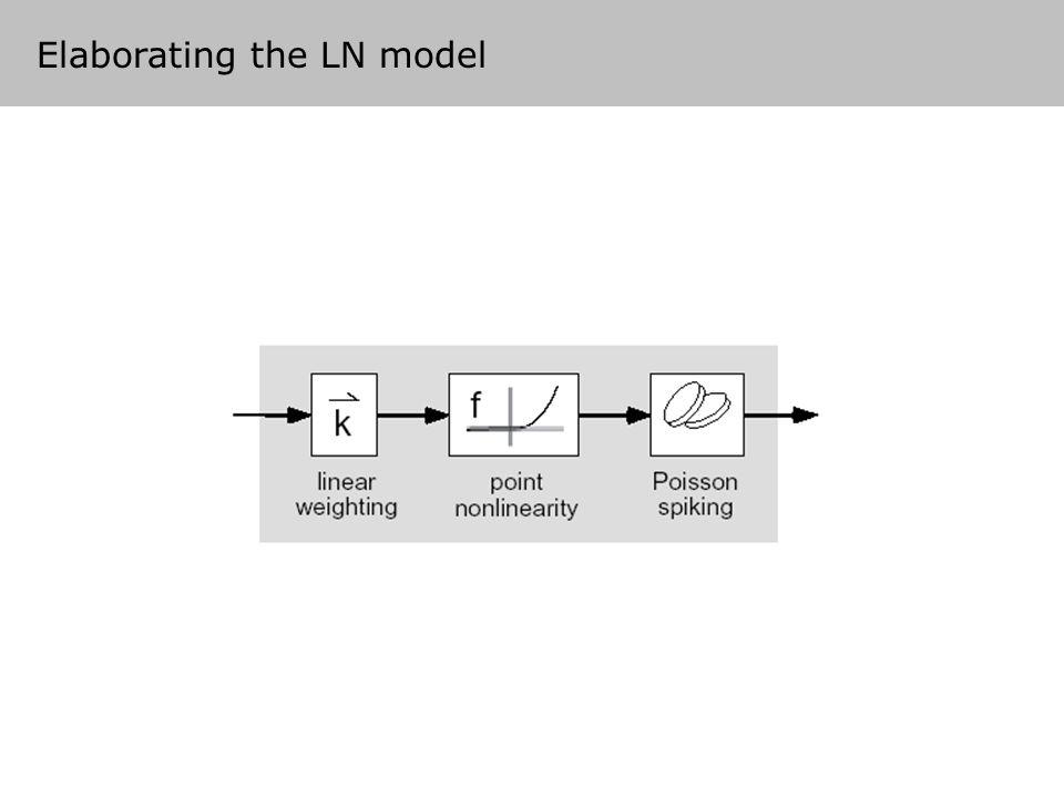 Elaborating the LN model