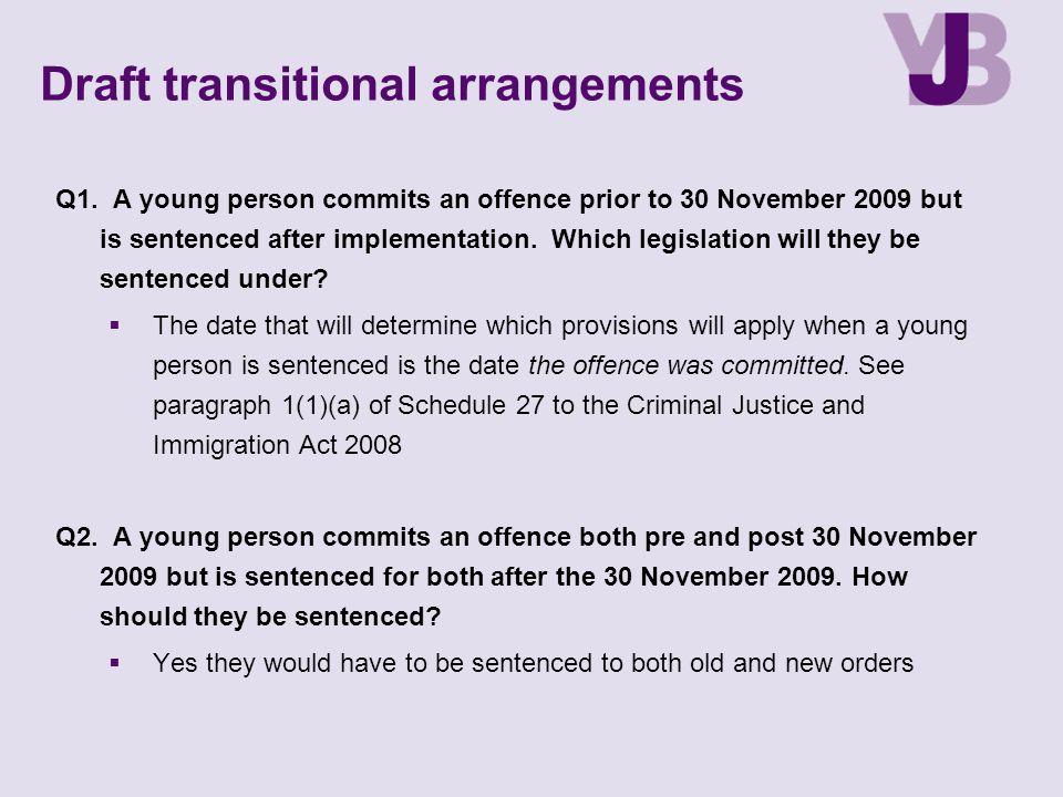 Draft transitional arrangements Q1.