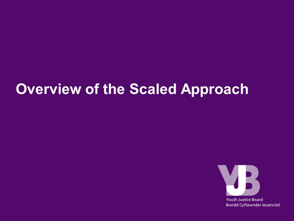 Overview of the Scaled Approach