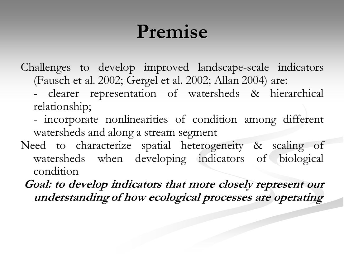 From watersheds/catchments as hierarchical, overlapping regions… River continuum concept (Vannote et al.